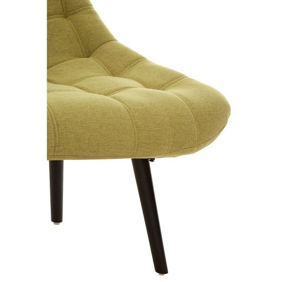 Hyadum Faux Linen Upholstered Bedroom Chair In Green    _6