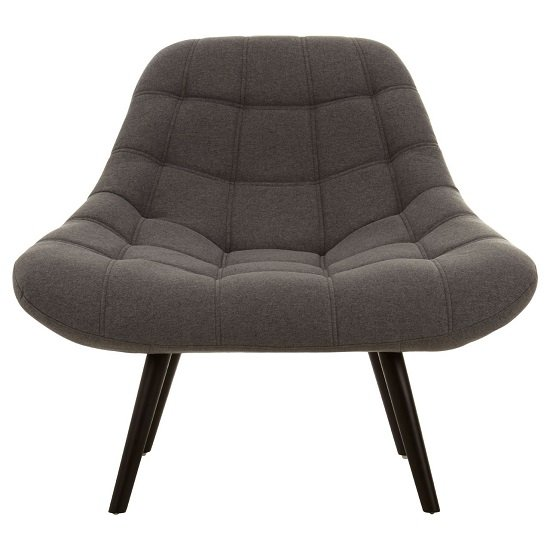 Talin Faux Linen Upholstered Bedroom Chair In Grey_1