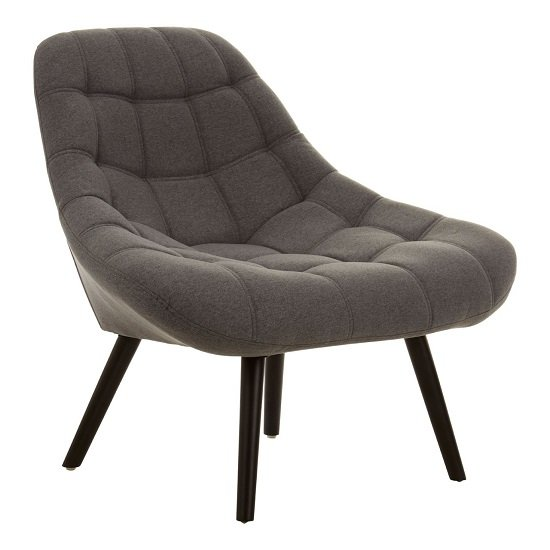 Talin Faux Linen Upholstered Bedroom Chair In Grey_2