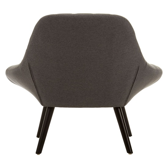 Talin Faux Linen Upholstered Bedroom Chair In Grey_4