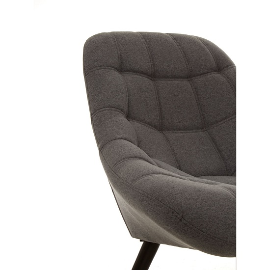 Talin Faux Linen Upholstered Bedroom Chair In Grey_5