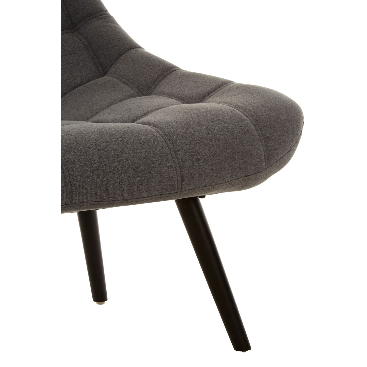 Talin Faux Linen Upholstered Bedroom Chair In Grey_6