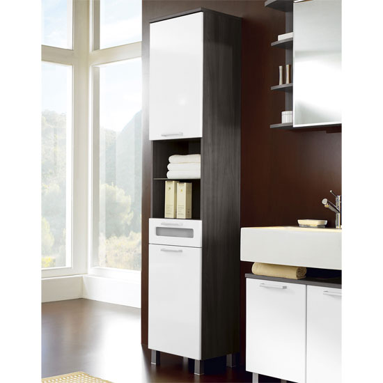 Marina Tall Freestanding Bathroom Cabinet Furniture In Fash