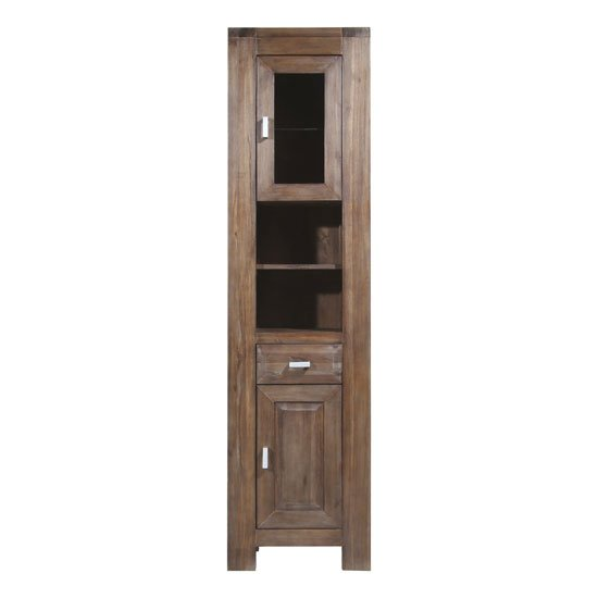 tall brown solid wood bath cabinet 1759 113 - Where And How To Buy Affordable Bathroom Cabinets