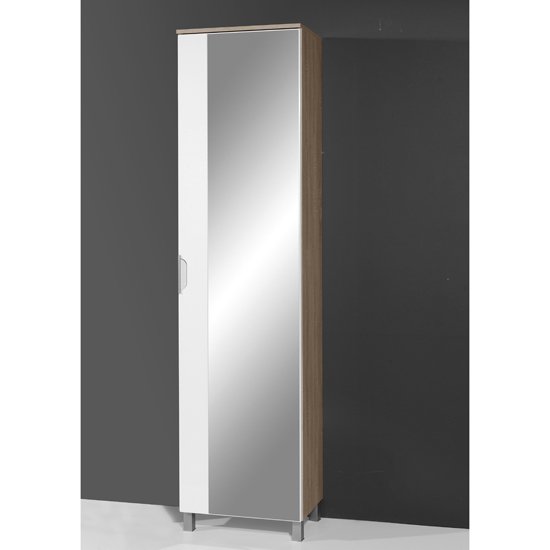 tall bathroom cabinet santos tall mirrored bathroom