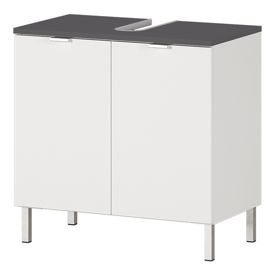 Tampa Basin Vanity Unit In White And Graphite