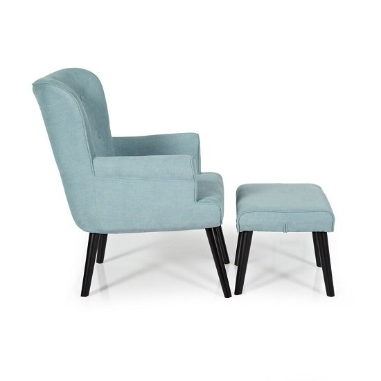 Tanwen Fabric Lounge Chair In Duckegg With Wooden Legs_3