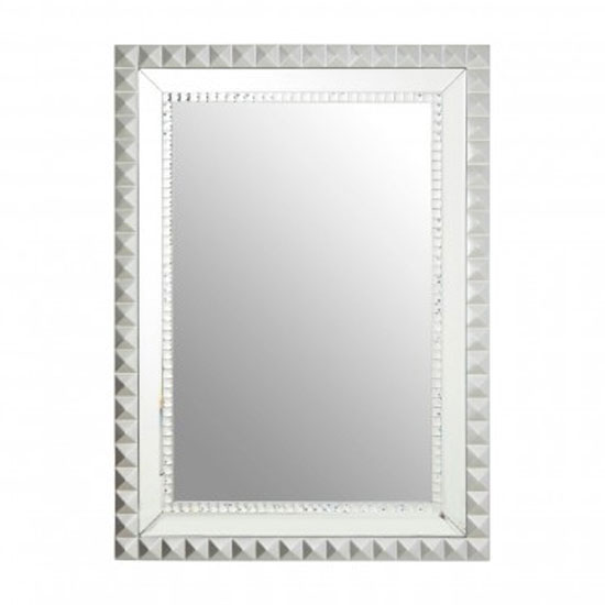Tariku Rectangular Wall Bedroom Mirror In Silver Frame