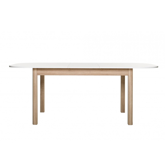 Taurus Extending Dining Table In White And Sonoma Oak_2