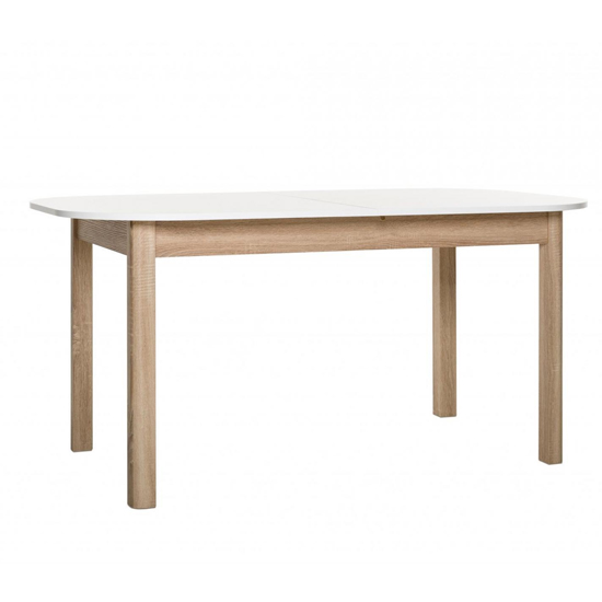 Taurus Extending Dining Table In White And Sonoma Oak_3