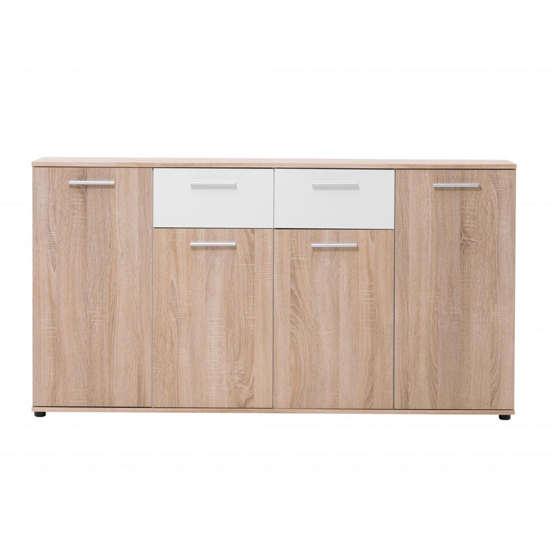 Taurus Wooden Sideboard In White And Sonoma Oak_2