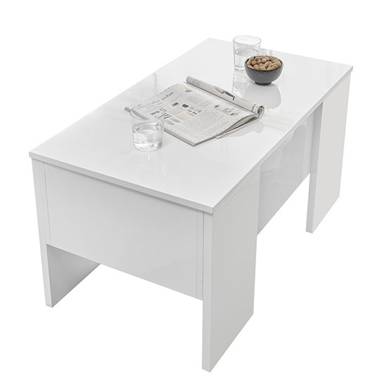 Taze Lift-Up Storage Coffee Table In White High Gloss_3