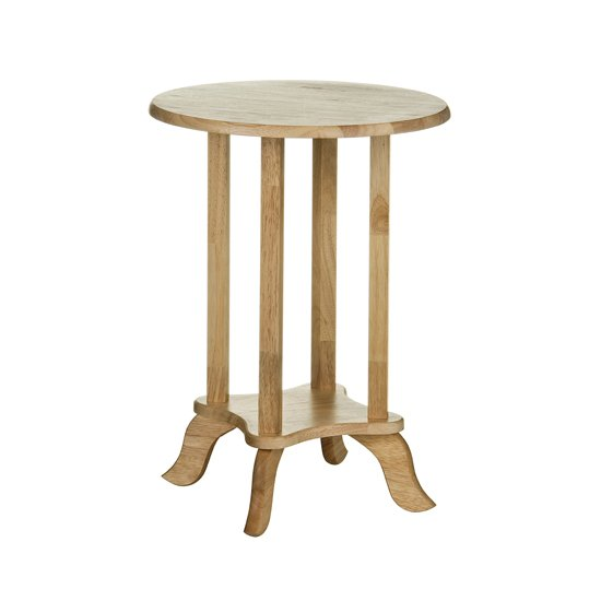 Round Rubber Wood Telephone table