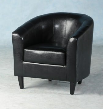 Tempo Tub Chair in Black