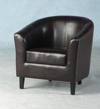 Tempo Tub Chair In Expresso Brown