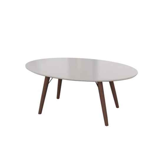Teramo Coffee Table In Champagne High Gloss And Metal Legs