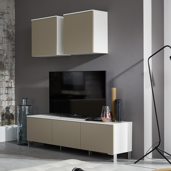 Terence Living Room Set 2 In White And Sand Front