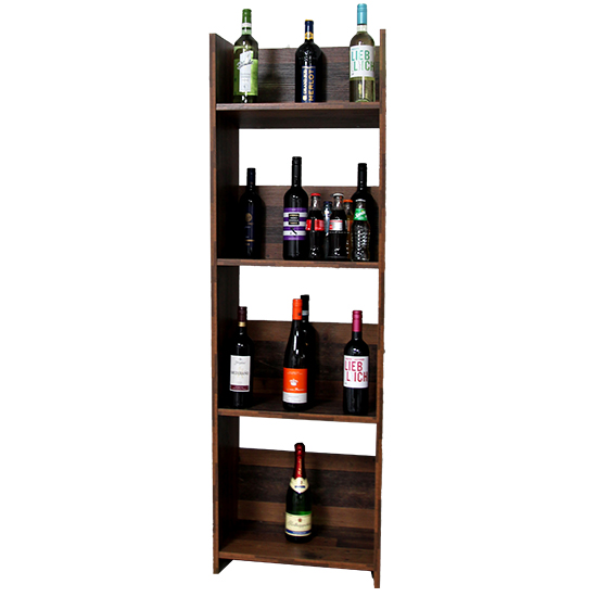 Terrell Wooden Shelving Unit In Old Style Dark With 4 Shelves