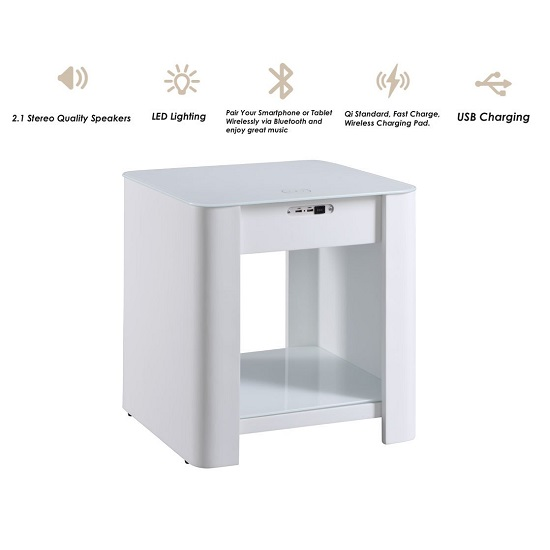 Terrence Smart Bedside Cabinet In White With Speaker_3