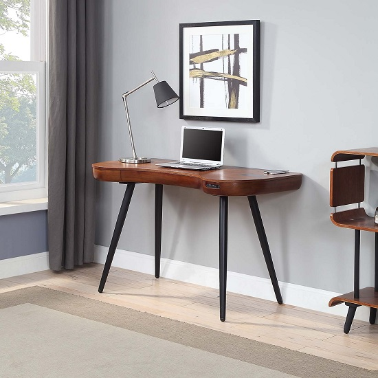 Terrence Wooden Laptop Desk In Walnut Finish