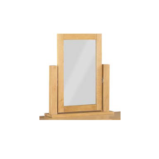 Tertia Dressing Mirror With Oak Frame
