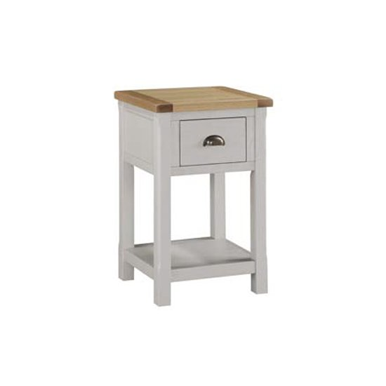 Tertia Stone Painted End Table With 1 Drawer