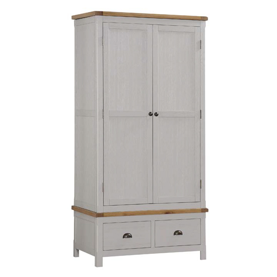 Tertia Stone Painted Wardrobe With 2 Doors And 2 Drawers