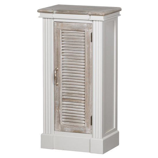 Liberty Wooden Louvered Doors Storage Cabinet In White