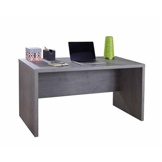 Theon Modern Computer Desk Rectangular In Grey
