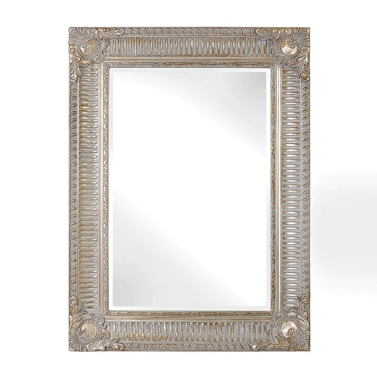 Thompson Ornate Style Wall Mirror In Gold And Silver