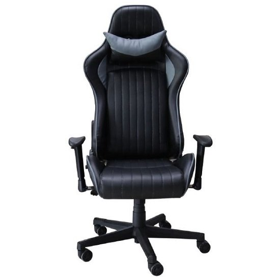 Throop Adjustable Recliner Office Chair In Black And Grey