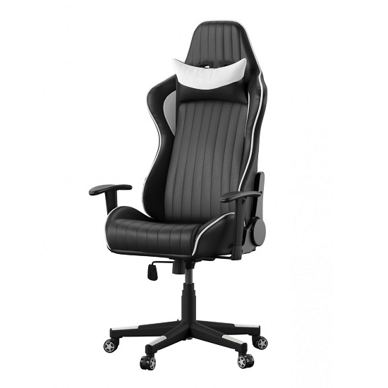 Throop Adjustable Recliner Office Chair In Black And White