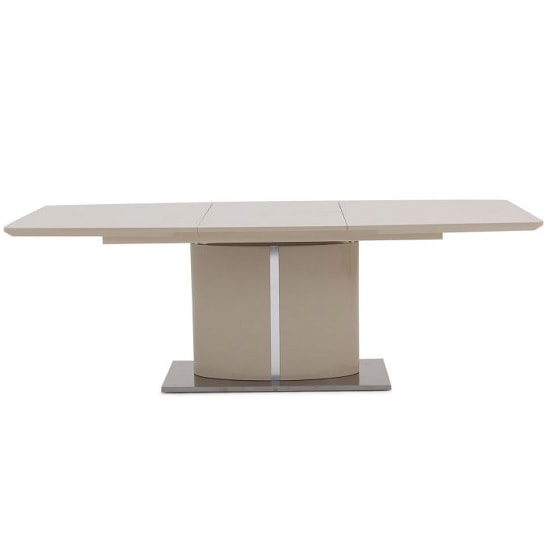 Tiago Extendable Dining Table Rectangular In Cream High Gloss
