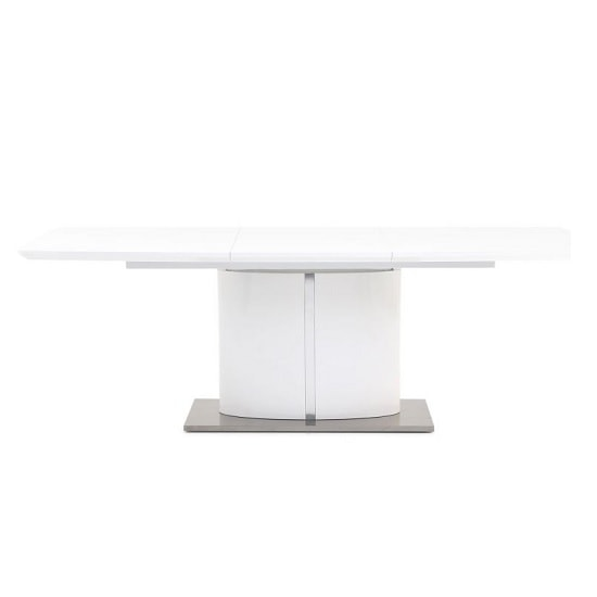 Tiago Extendable Dining Table Rectangular In White High Gloss_1
