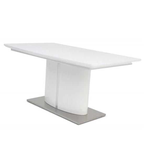 Tiago Extendable Dining Table Rectangular In White High Gloss_4