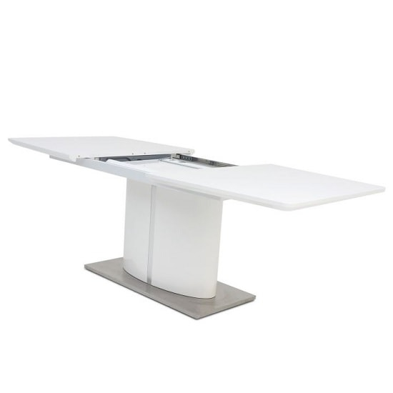 Tiago Extendable Dining Table Rectangular In White High Gloss_2