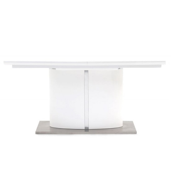 Tiago Extendable Dining Table Rectangular In White High Gloss_5