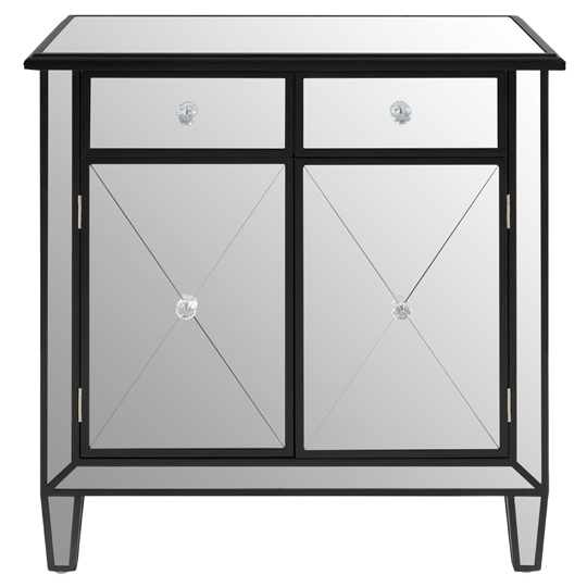 Kentaurus Mirrored Side Board In Silver With 2 Drawers   _2