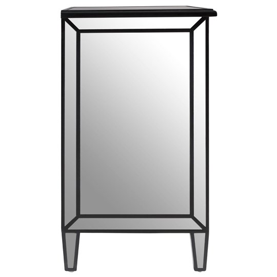 Kentaurus Mirrored Side Board In Silver With 2 Drawers   _5