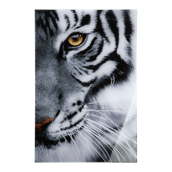 Tiger Picture Acrylic Wall Art In Black And White_1