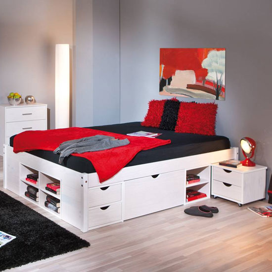 Till Wooden Storage Double Bed In White_2