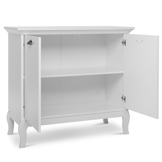 Tilton Wooden Storage Cabinet In White With 2 Doors_2