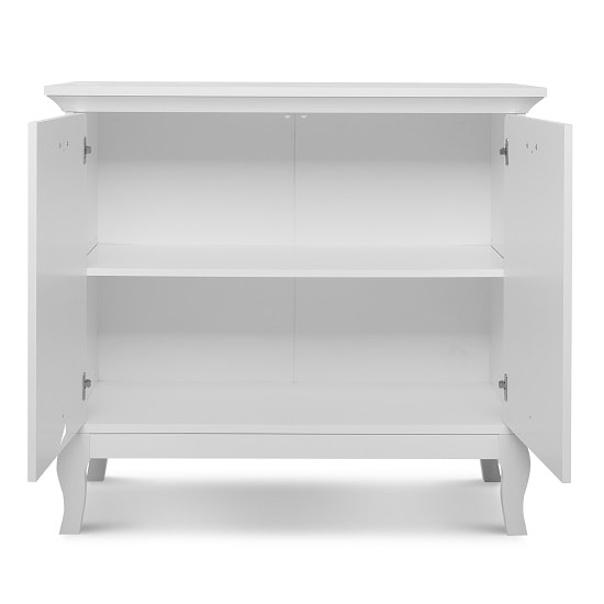 Tilton Wooden Storage Cabinet In White With 2 Doors_4