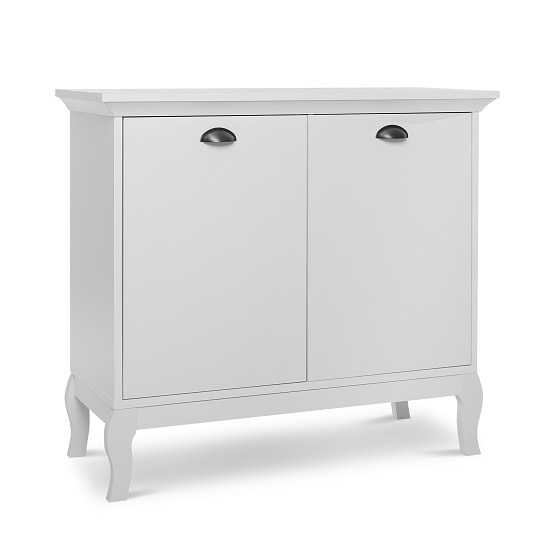 Tilton Wooden Storage Cabinet In White With 2 Doors_3