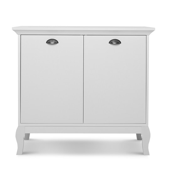 Tilton Wooden Storage Cabinet In White With 2 Doors_5