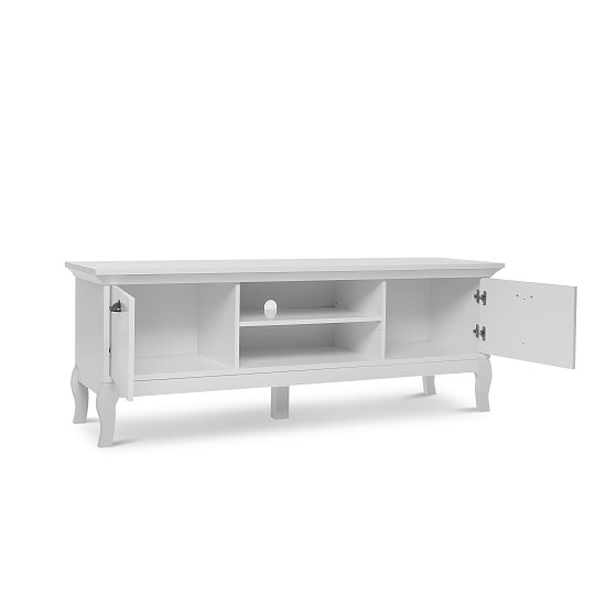 Tilton Wooden TV Stand In White With 2 Doors_2