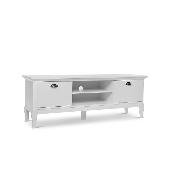 Tilton Wooden TV Stand In White With 2 Doors_4