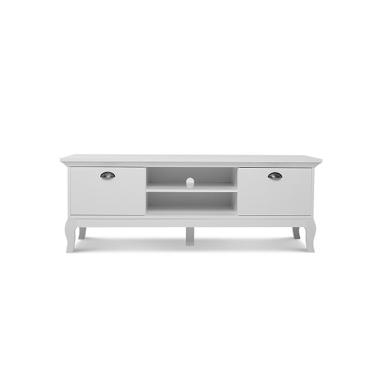 Tilton Wooden TV Stand In White With 2 Doors_3