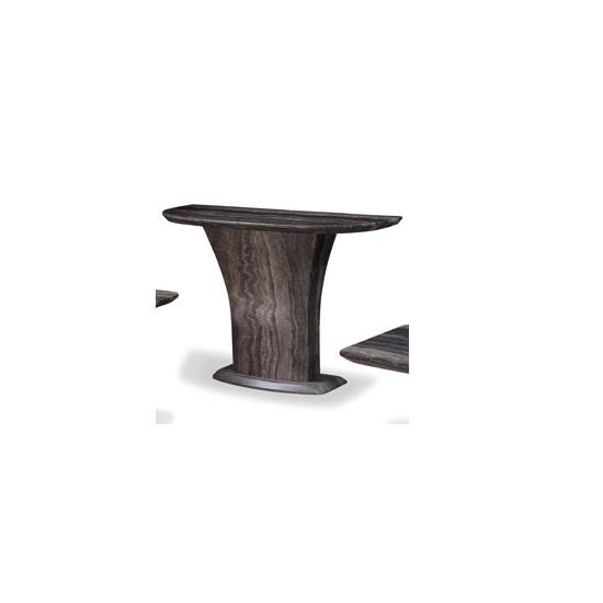Titan Marble Console Table In Natural Tone Fibre Glass Column