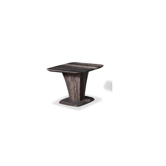 Titan Marble End Table In Natural Tones With Fibre Glass Column